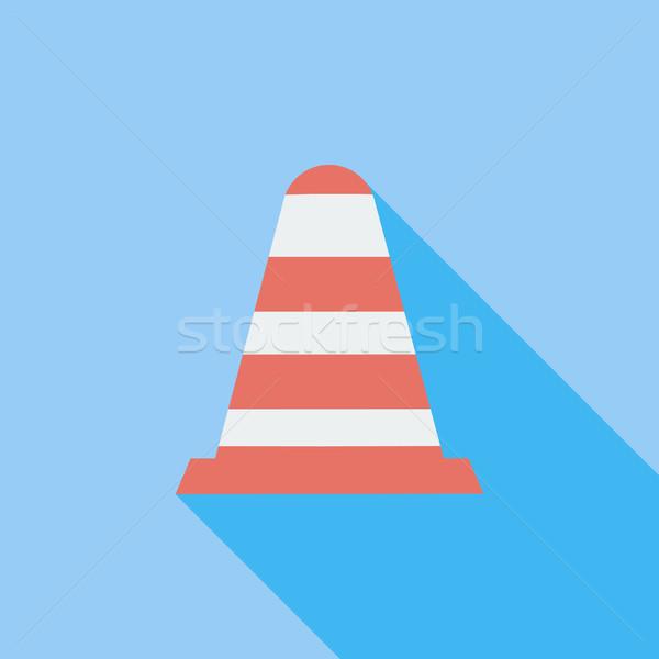 Road Cone single icon.  Stock photo © smoki