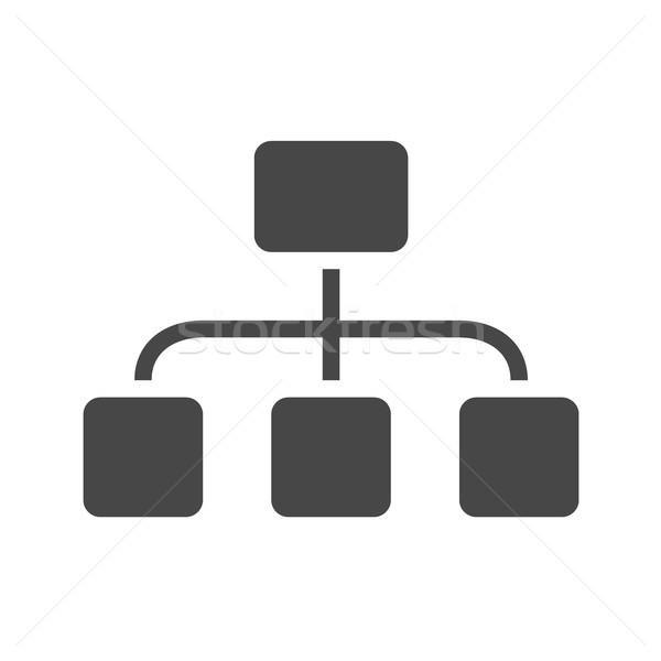 Organizzazione vettore icona isolato bianco Foto d'archivio © smoki