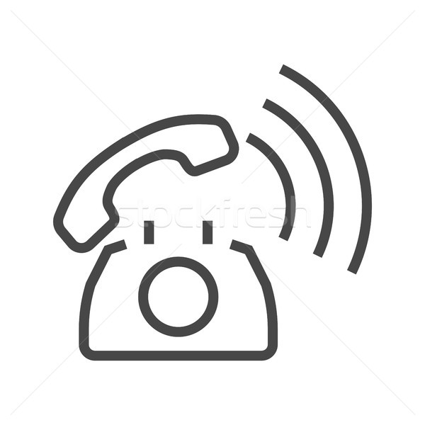 Phone Thin Line Vector Icon. Stock photo © smoki