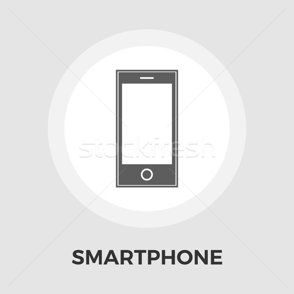 Smartphone icon vector geïsoleerd witte Stockfoto © smoki