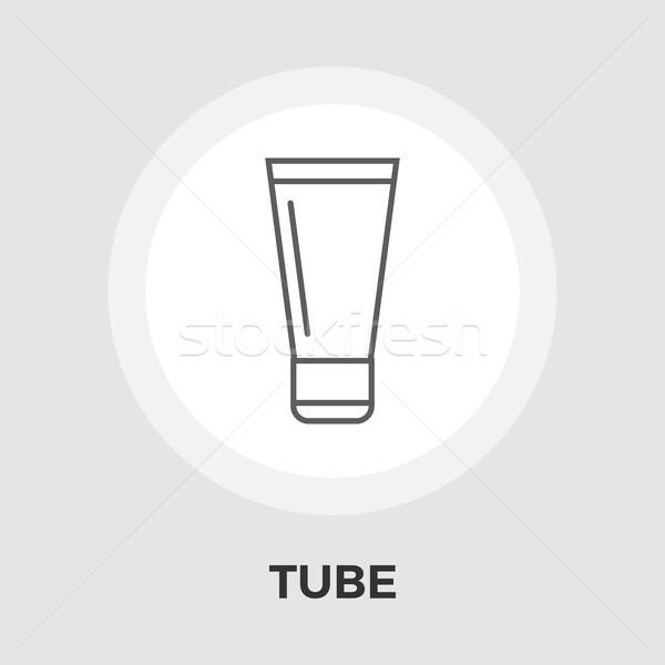 Tubo vettore icona isolato bianco Foto d'archivio © smoki