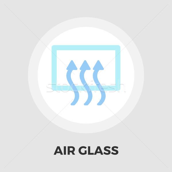 Arka pencere ikon vektör yalıtılmış beyaz Stok fotoğraf © smoki