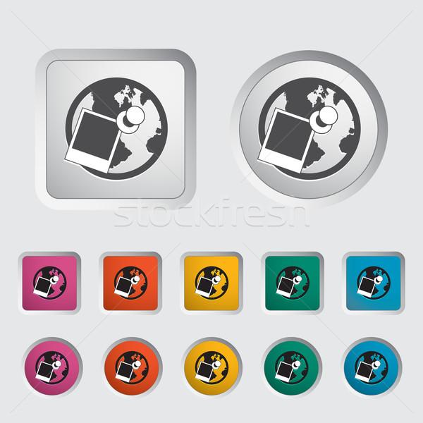 Geotagging single icon. Stock photo © smoki