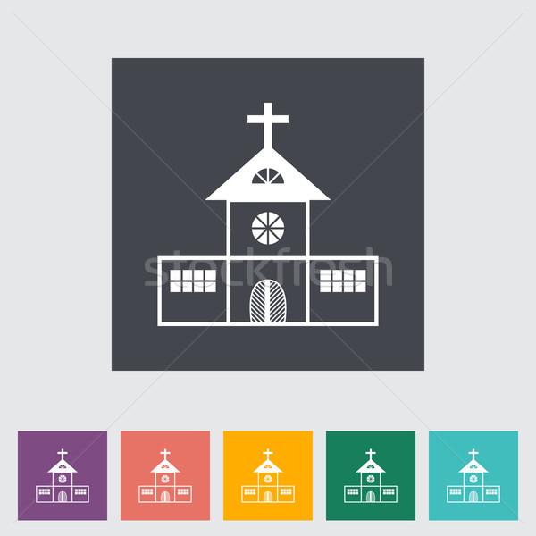 Church single flat icon. Stock photo © smoki