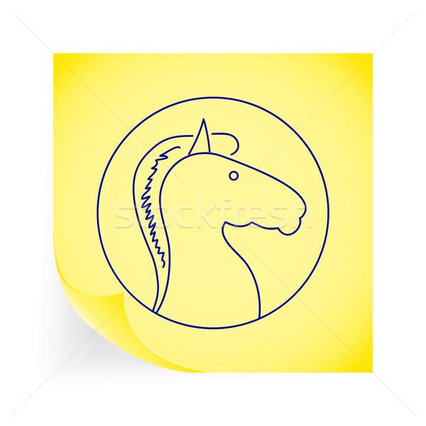 馬 アイコン 黄色 デザイン 芸術 ストックフォト © smoki