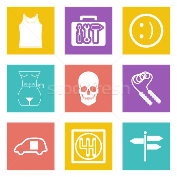 Color icons for Web Design set 28 Stock photo © smoki