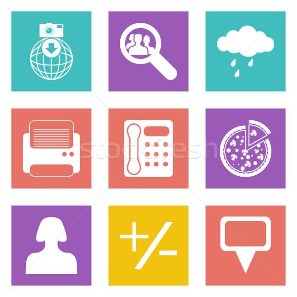 Color icons for Web Design set 49 Stock photo © smoki