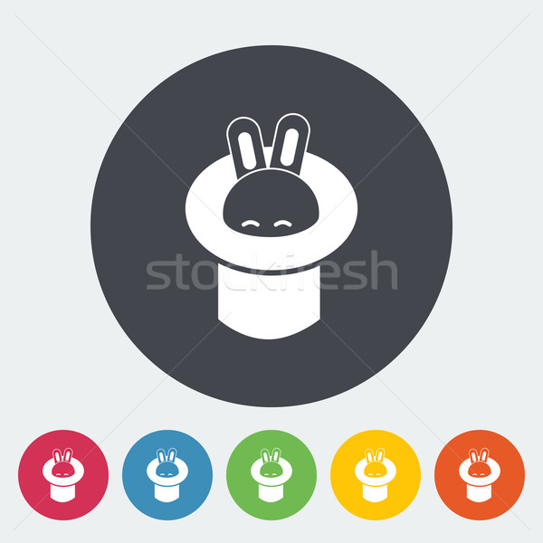 Rabbit in magician hat. Stock photo © smoki