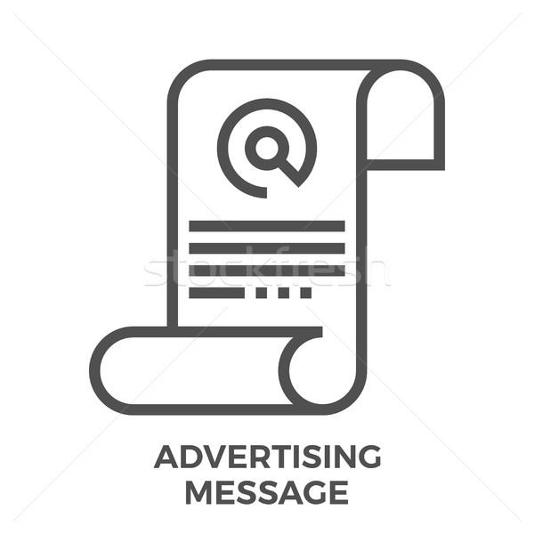 Advertising message icon Stock photo © smoki