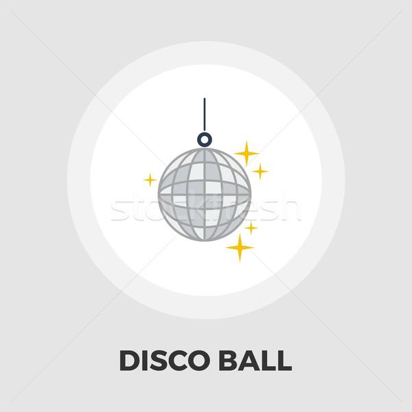 Disco ball ikona wektora odizolowany biały Zdjęcia stock © smoki