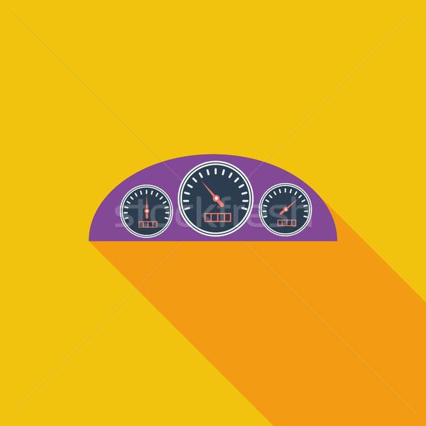 アイコン ダッシュボード ベクトル 長い 影 ウェブ ストックフォト © smoki