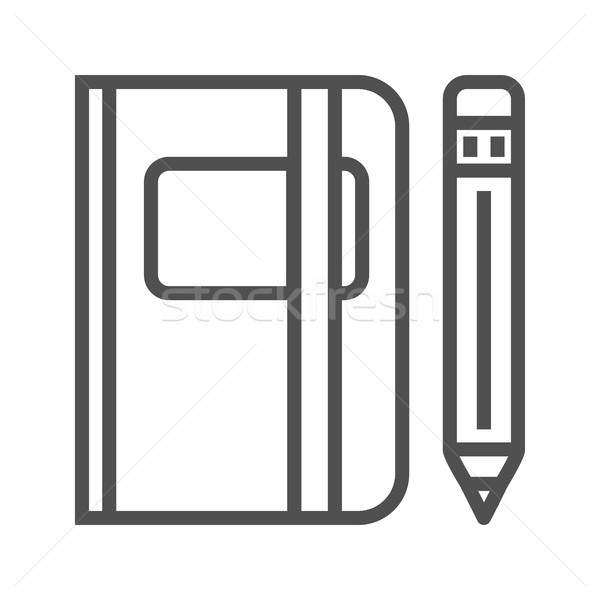 Sketchbook line icon Stock photo © smoki