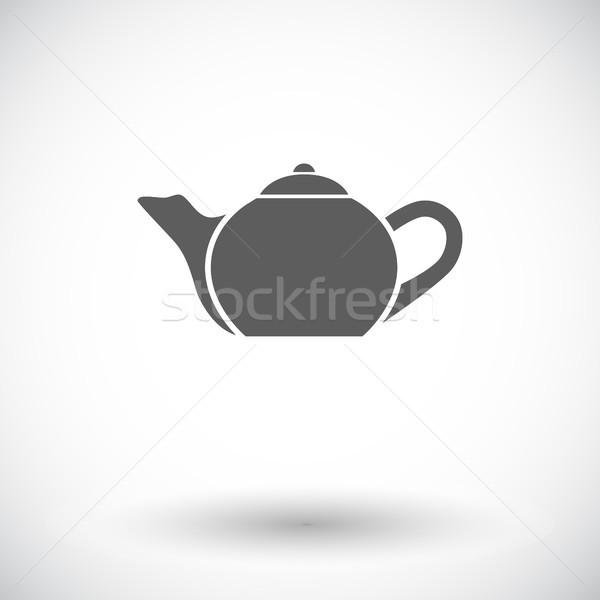 Bollitore icona bianco bere industria pittura Foto d'archivio © smoki