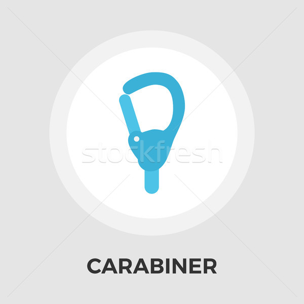 Carabiner Vector Flat Icon Stock photo © smoki