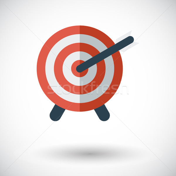 Target with dart Stock photo © smoki