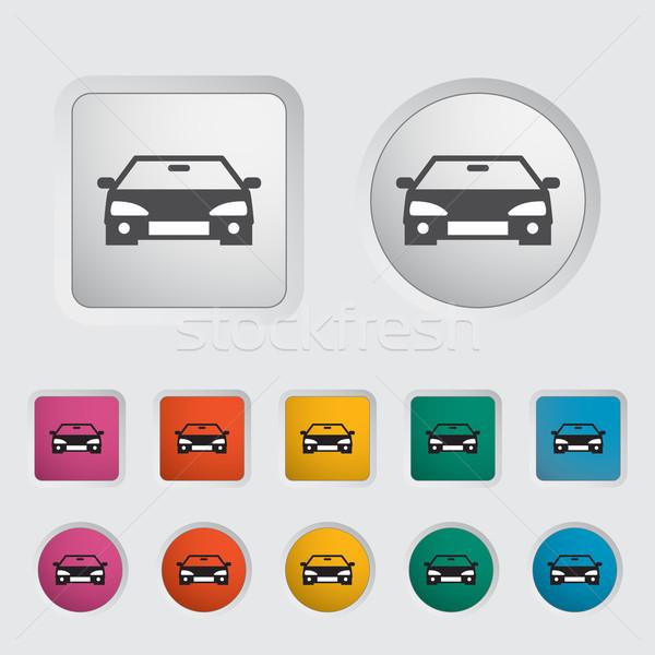 Stockfoto: Auto · icon · zwarte · silhouet · eps · sport