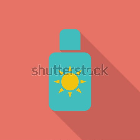 Protetor solar cor ícone praia arte laranja Foto stock © smoki