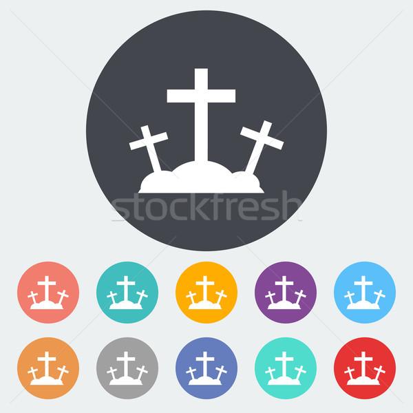 Calvary single icon. Stock photo © smoki