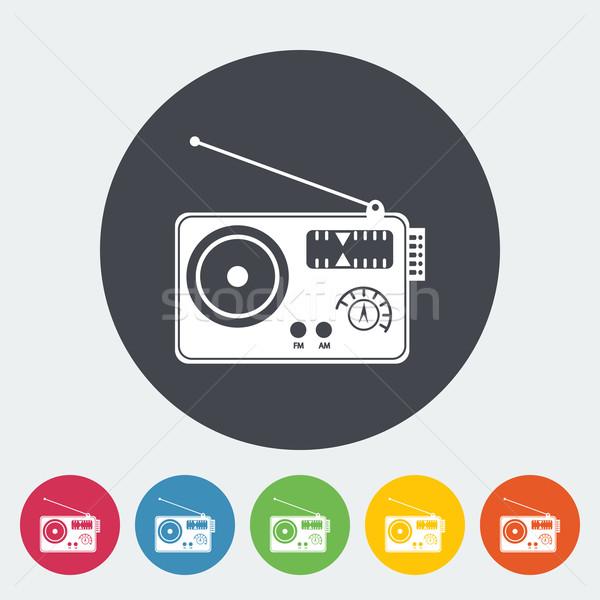 Radio single icon. Stock photo © smoki