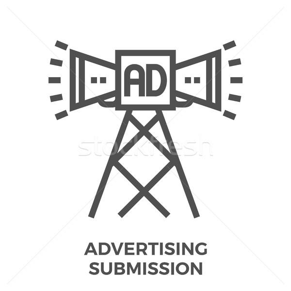 Advertising submission icon Stock photo © smoki