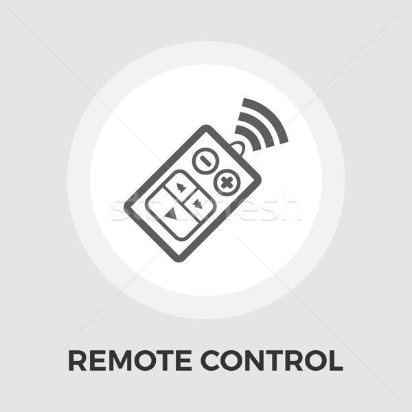 Foto stock: Control · remoto · icono · coche · vector · aislado · blanco