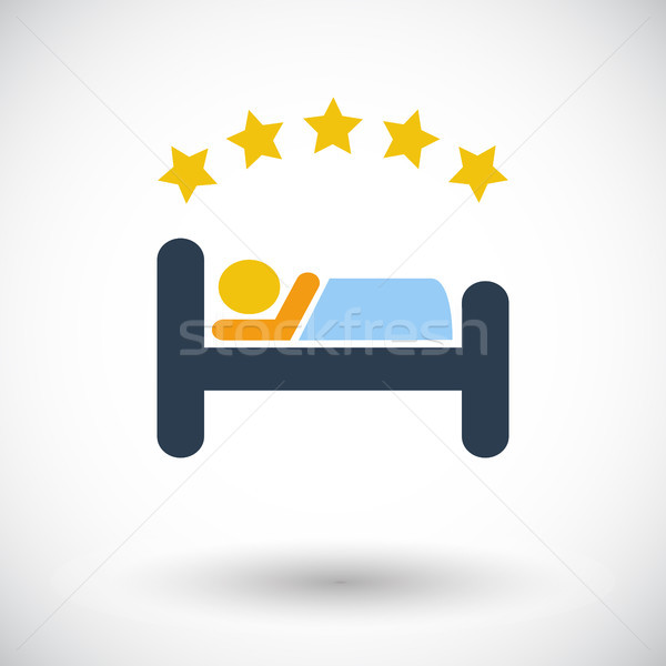 Hotel single flat icon. Stock photo © smoki