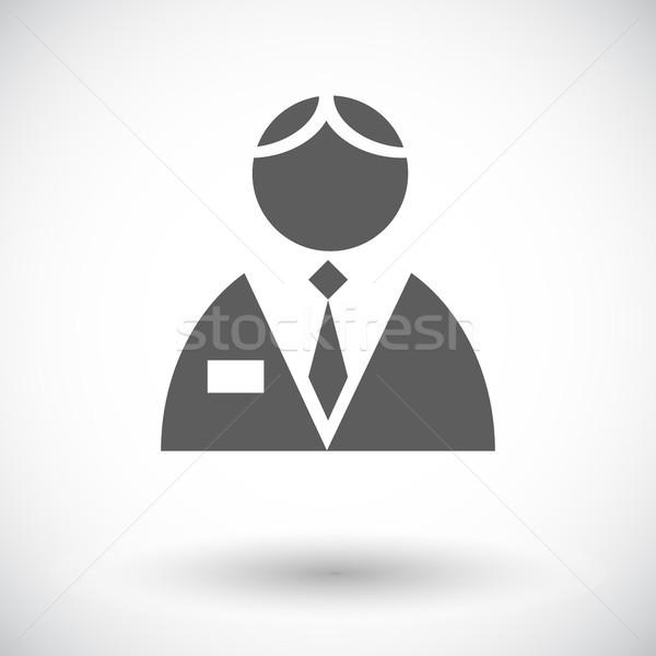 Person single flat icon. Stock photo © smoki