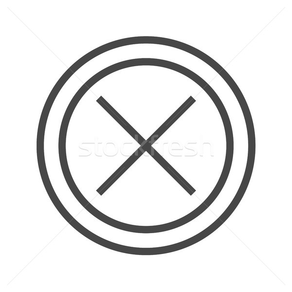 Cross Mark Thin Line Vector Icon Stock photo © smoki