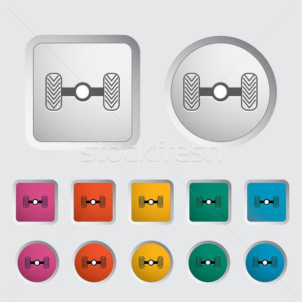 Chassis car single icon. Stock photo © smoki