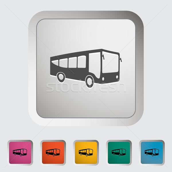 Bus icon Stock photo © smoki