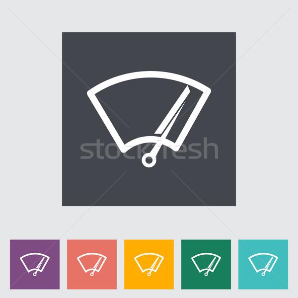 Stock photo: Car icon wiper.