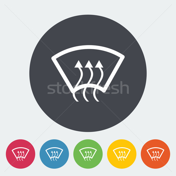Chauffage verre icône cercle vert électriques Photo stock © smoki