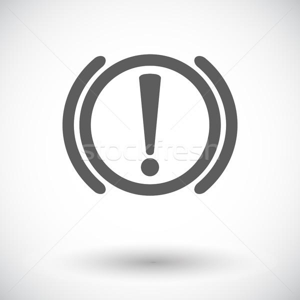 Benachrichtigung Probleme Bremse Symbol weiß Design Stock foto © smoki