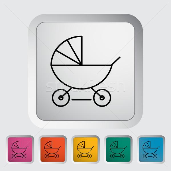 Pram icon Stock photo © smoki