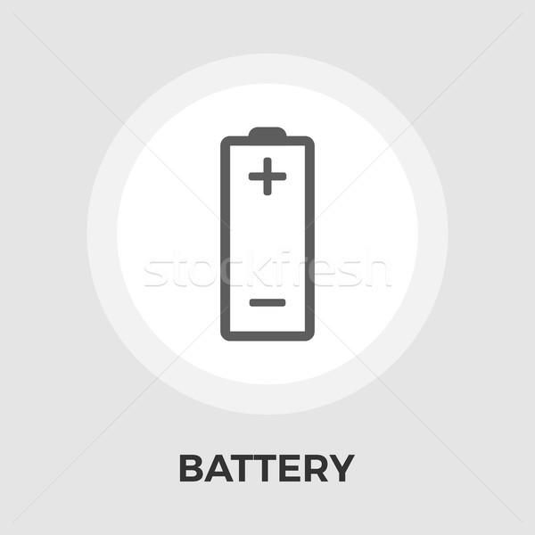Baterii ikona wektora odizolowany biały Zdjęcia stock © smoki