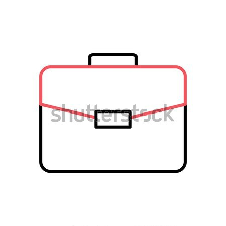 Maletín delgado línea vector icono aislado Foto stock © smoki