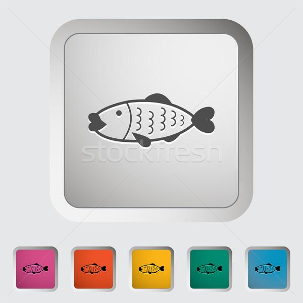 Сток-фото: рыбы · икона · морем · искусства · знак · Живопись