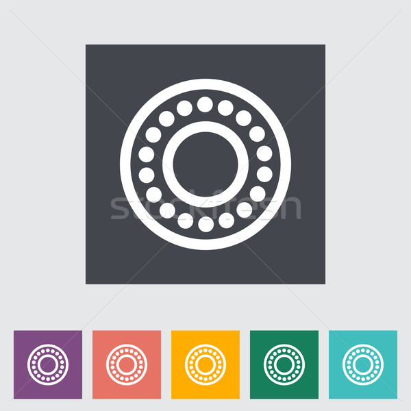 Icon flat bearing. Stock photo © smoki