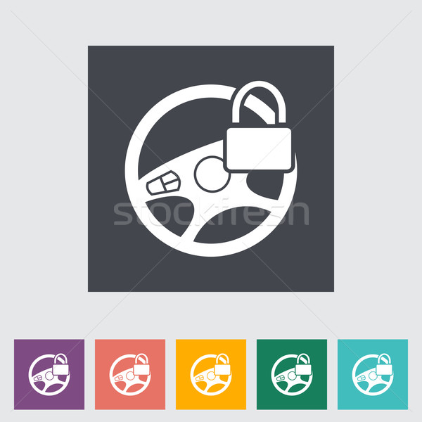 Araba direksiyon ikon dizayn teknoloji hızlandırmak Stok fotoğraf © smoki