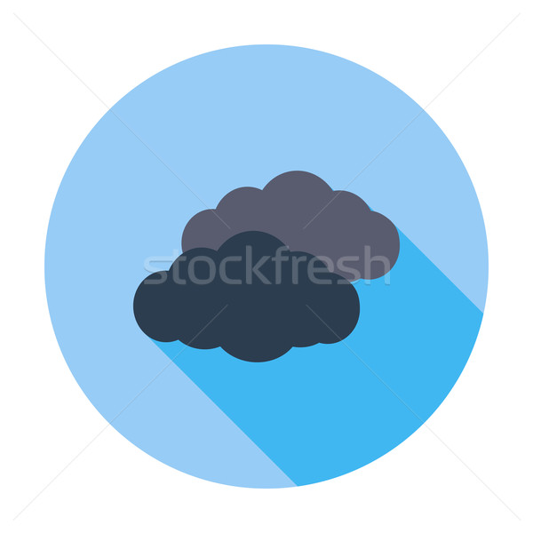 Overcast single flat icon. Stock photo © smoki