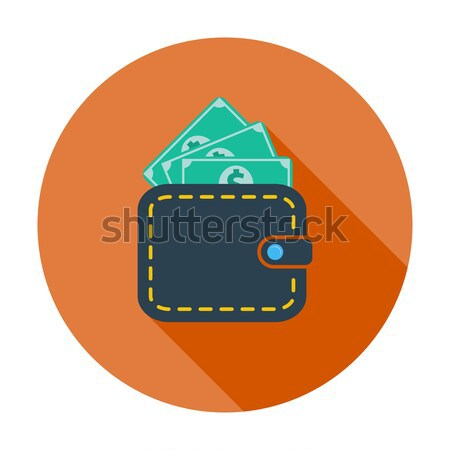 Pénztárca dollár szín ikon vásárlás festmény Stock fotó © smoki