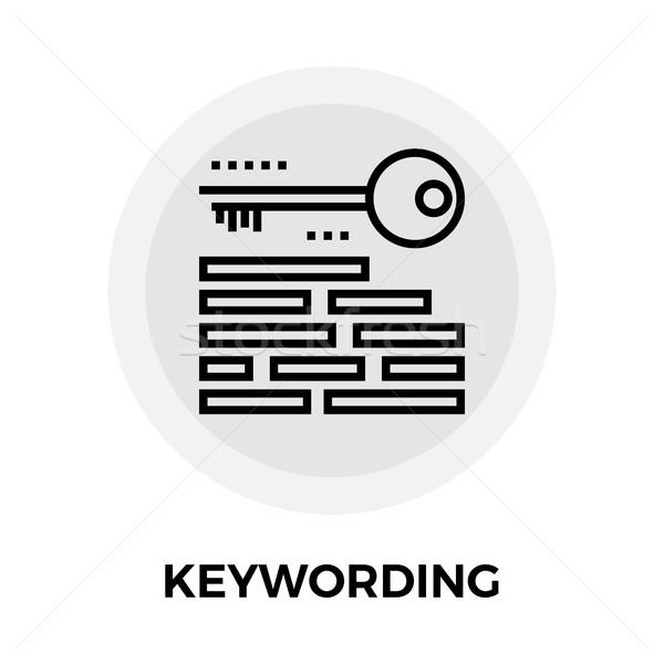 Keywording Line Icon Stock photo © smoki
