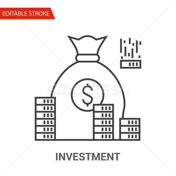 Investment Icon. Thin Line Vector Illustration Stock photo © smoki