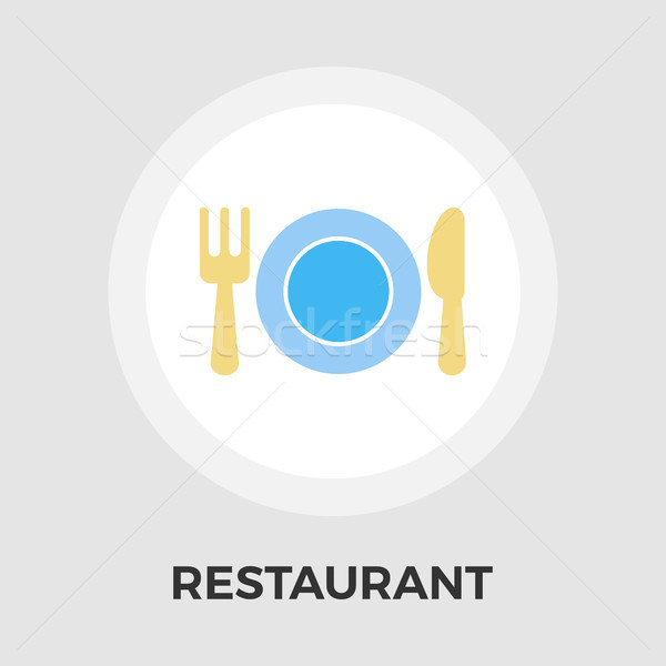 Restaurant vector flat icon Stock photo © smoki
