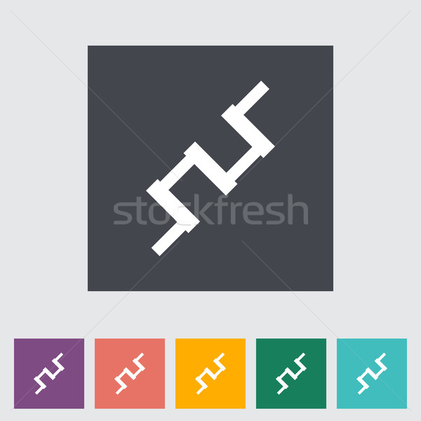 Crankshaft flat single icon. Stock photo © smoki