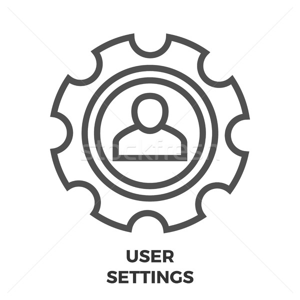 User Settings Line Icon Stock photo © smoki
