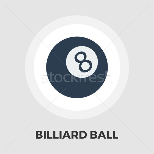 бильярдных мяча икона вектора изолированный белый Сток-фото © smoki