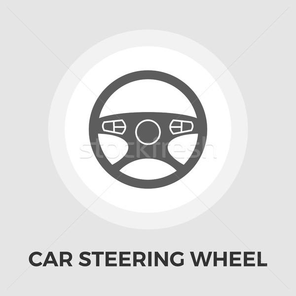Auto stuur icon vector geïsoleerd witte Stockfoto © smoki