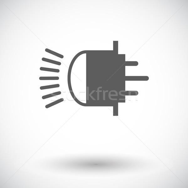 Xênon carro lâmpada ícone branco pintar Foto stock © smoki