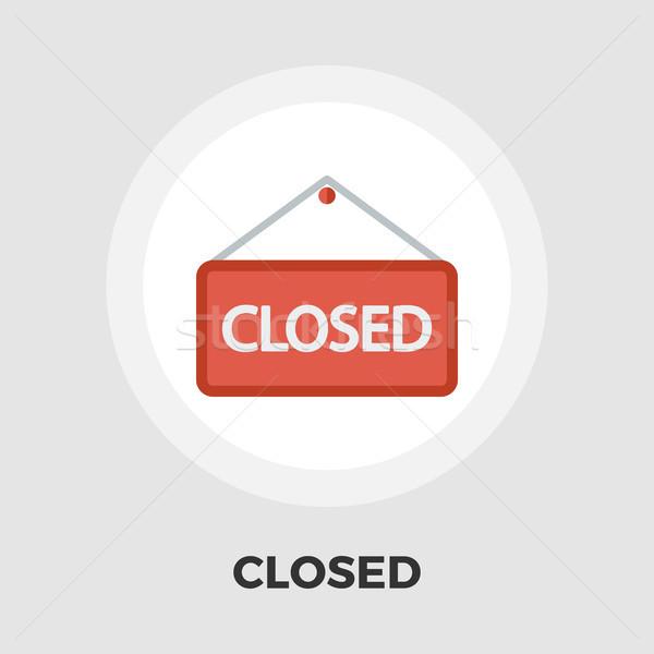 Cerrado icono signo vector aislado blanco Foto stock © smoki